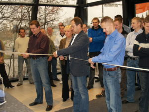 The opening of our official shop in Tartu in 2006