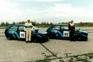 Forss racers with VW Golf class vehicles
